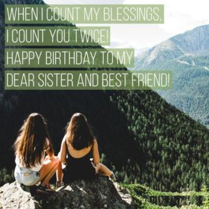 Birthday Wishes With Image For Sister