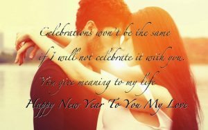Happy new year wishes for Husband & Wife