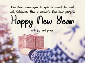 Happy new year wishes for friend