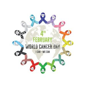 world cancer day in February 4 . fight cancer concept with ribbons .