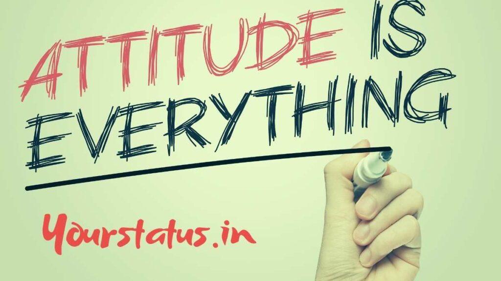 Attitude Status In English & Hindi: Attitude Quotes for WhatsApp